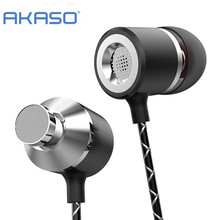 Buy AKASO Earphone Microphone Stereo MP3 player PC Gamer Headset Wired Mobile Phone xiaomi mi Ear buds Noise Cancelling for $3.89 in AliExpress store
