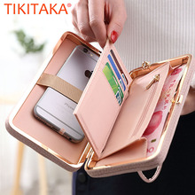 Luxury Women Wallet Phone Bag Leather Case For iPhone 8 7 6S Plus 5 For Samsung Galaxy S7 Edge S6 Xiaomi Redmi 3S Note3 4 Cover(China)