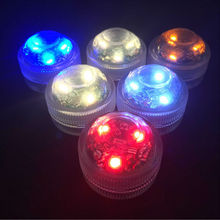Battery Operated Christmas Lights  20pcs/lot Romantic Waterproof Submersible LED Tea Light Electronic Candle Light for Wedding