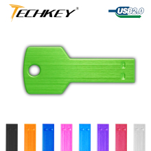 Color usb flash drive 64GB pen drive 32gb Metal Waterproof usb 2.0 8gb 16gb U disk key shape usb stick free shipping Customized