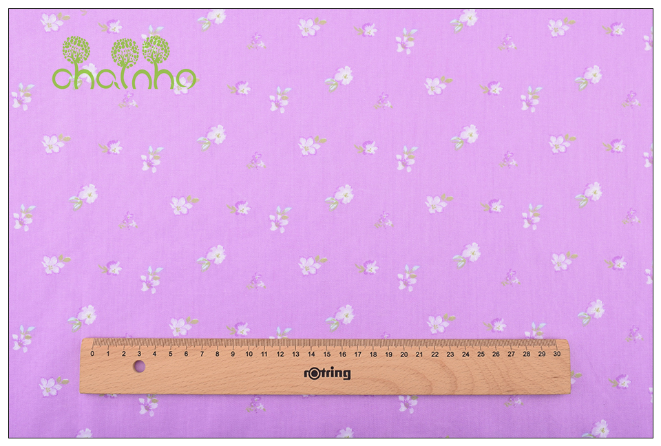 Chainho Twill Cotton Fabric,Patchwork Floral Tissue Cloth,DIY Sewing Quilting Fat Quarters Material For Baby&Children,5pcs/lot 11