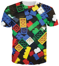 Lego Bricks T-Shirt super popular children's toy 3d print t shirt camisetas Unisex Women Men Summer Style tshirt Plus Size S-3XL