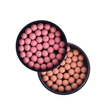 Natural Moisturizing Pearls Face Blush Bronzer Powder Comestic Women Makeup Long Lasting Face Blush Palette Ball Blusher Blush(China)