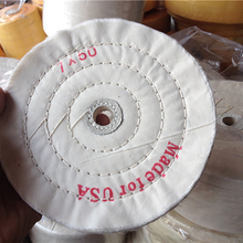 7'' 180mm White Sawing Cloth Polishing Wheel for Various Glazing Machine to Buffing Metals & Grinding Crystal 50 Ply Covers