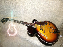 Wholesale Hollow Body Electric Guitar 335 mint Sunburst jazz electric guitar with Bigsby Free Shipping(China)