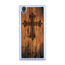 Fashion IMD Cross Case For Sony Xperia L1 Case For Sony L1 Retro Wood Colored Hard Plastic Painted Phone Cases Cover
