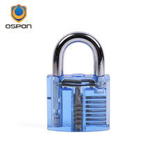 Dark blue transparent practice lock, locksmith essential acrylic lock(China)