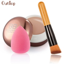 Beauty Girl Hot Moisturizing Concealer + Inclined Partner Powder Brush + Water Drop Shape Puff Nov 1(China)