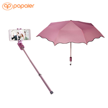 Bluetooth Selfie Stick For Iphone 7 Motorola Smartphones Android Palo Pau De Selfie With Bumbershoot Black Pink Monopod Tripod(China)