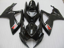 Injection mold Fairing kit for SUZUKI GSXR600 750 K6 06 07 GSXR 600 GSXR 750 2006 2007 ABS gloss black Fairings set+7gifts SC19