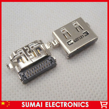 50pcs/lot  19Pin HDMI Female Jack HDMI HD Connector for Asus Sumsung HP etc Notebook motherboard built-in interface