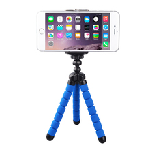 Octopus Leg Style Portable Adjustable Flexible Tripod Stand with Clip For Mobile Phone Digital Camera Mount Holder MH-568(China)