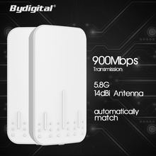 Bydigital Wifi Router Long Distance Repeater AP 14dBi Gain Antenna Wireless Outdoor CPE Bridge 2.4GHz 5.8GHz anti-interference