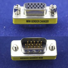 Mini 15 Pin SVGA VGA Port Saver Female to Male Gender Changer Adapter Connector U1 Coupler New