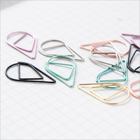 50 pcs/lot Drop Feature Small Metal Paperclip Office School Stationery Metal Clip Bookmarker Concise Cute High-quality Memo Clip