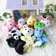 1 Piece Gloves Puppet Plush Toys Stuffed Animals lovely Cartoon Animal Child Baby Favor Dolls High quality PP Cotton.