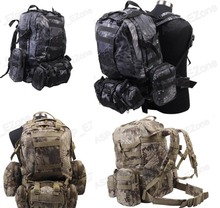 Tactical Molle 60L Camouflage Tactical Cargo backpack Black CAMO Typhon Climbing Bags