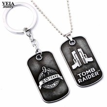 VEIA joyas Game Necklace Tomb Raider Celebration Choker Necklace for women Dog Tag Pendant Keyring Keychain Charm Necklace Gifts