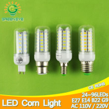 B22 E14 E27 LED Lamp 110v 220v LED corn bulb Spotlight SMD 5730 lampada led lamparas 5W 7W 9W 12W 15W 18W 20W Warm Cold white(China)