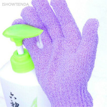 ISHOWTIENDA 2 Pairs 17*13cm Nylon Take A Shower Bath Towel Gloves Gloves Exfoliating Gloves Take A Shower Bathroom Accessories(China)