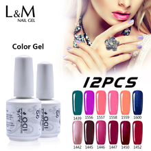 12 Pcs Free Shipping Uv Lamp Nails Varnishes Fashion Polish Lasting More Than 30 Days Pure Shinning Fashion 237 Colours