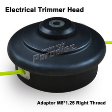 Electrical Nylon Trimmer Head Adaptor M8*1.25 Right Female Double Trimmer Line Bump and Go For Garden Use Grass Trimmer Head