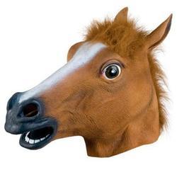 Горячая латексная маска для хеллоуина вечерние Полное Лицо ужасные животные собака голова лошади маска реквизит для карнавальный на Хэлло...