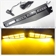 02003 DC12V 1set32led visor light panel strobe light bar pol fireman tow towing truck dash Emergency warning lamp with mountings(China)