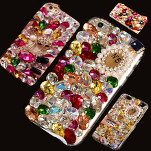 3D Luxury Bling Crystal Diamond Phone Case For iphone 6 plus 6splus 6s 5s 5c 5 se 4 4s 7 i7plus Lady Pink Sparkle Jewelry Cover