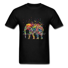 Large Size T Shirt Men Folk T Shirts Puzzle Elephant Fashion Harajuku Uniform For Men Printed Clothing