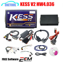 Unlimited Tokens Master Version V2.32 KESS V2 Alientech Add OBD Function OBD2 Manager Tuning Kits Firmware V4.036 Full Packages(China)