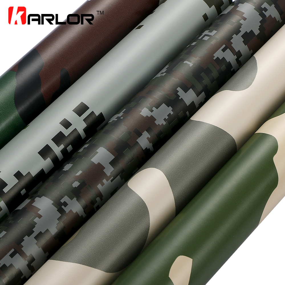 60x500cm PVC Self-adhesive Camouflage Car Sticker Wrap Vinyl Film Digital Camo Army Military Green Automobiles Motorcycle Decal(China (Mainland))