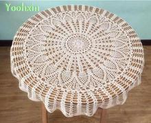 Luxury Cotton Crochet tablecloth Table cloth towel flowers round lace white handmade Table Cover manteles for wedding decor