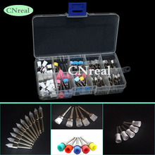 1 Box Dental Polishing Brush/Cup 4 Types for Low Speed Handpiece