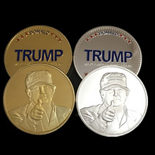Buy 20 pcs brand new USA President candidate Donald Trump 24K gold silver plated souvenir coin for $48.00 in AliExpress store