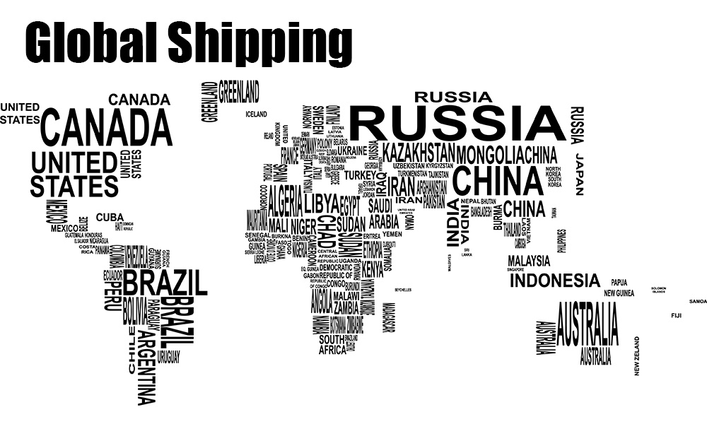 7 global shipping map