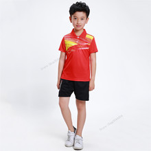 Adsmoney Children Quick Dry Broad Cloth Running Sportswear breathable badminton shirt,Boy/Girl table tennis training clothes