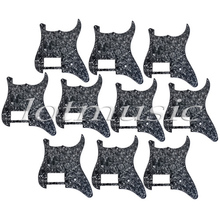 10pcs 3Ply Black Pearl Guitar Pickguard One Humbucker For Strat Replacement High Quality(China)