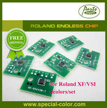 4Colors/set CMYK Roland Forever Chip for Ink Cartridge Endless Chip for XF/VSI(China)