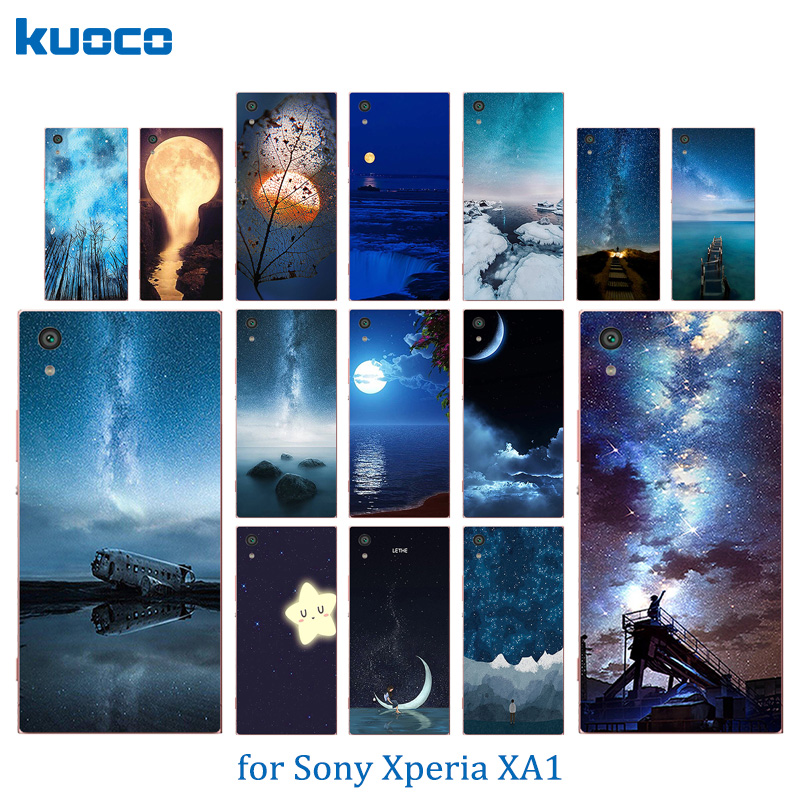 Pattern Couple Phone Case Sony XA1 5.0 inch Coque Sony Xperia XA1 Dual G3112 G3116 G3121 G3123 Case Night Sky Cover