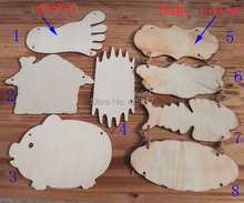 Mixed size design.16pcs/bag Wood blank tags. Indicate products. DIY tips label.baby intellectual toys 017010005
