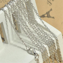 Wholesale 10pcs/lot Alloy Cable Chains Lobster Clasp 80cm Long Necklace Chains Jewelry Handmade Gold/Black/Bronze/Silver