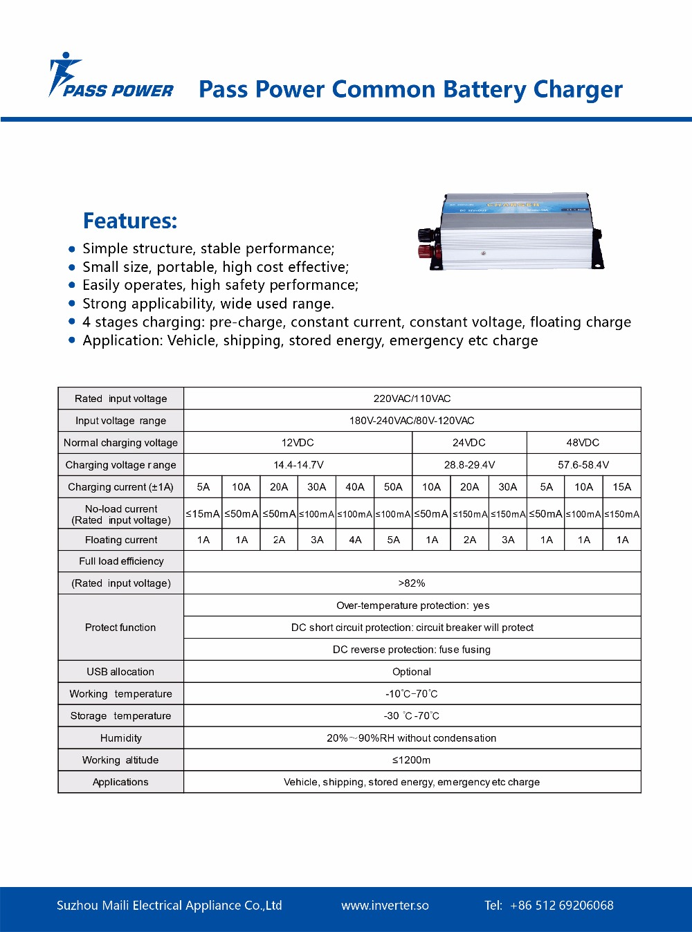 Datasheet-Common Battery Charger