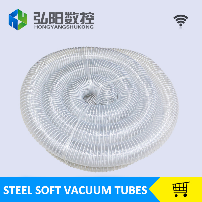 Dust suction steel pipe vacuum tubes 100mm*10M diameter for cnc machine dust collector soft and long life<br>