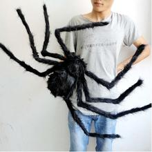 Halloween Decoration wholesale  Spider Haunted House Prop Random Ship black colorful 30/50/75cm Indoor Outdoor Decor Props