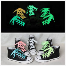 2 pcs 32'' Luminous Glow In Dark Shoelace Athletic Sport Boots Shoe Laces Strings
