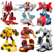 Hot Sale 6PCS/Set Transformation Toy Deformation Robot Cars Toys Action Figures For Boy's Brithday Gifts