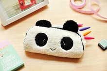 Cute Multifunction Panda Pencil Bag Pen Case cosmetic makeup bag plush soft touch Super Lovely Kawai Kid Children(China)