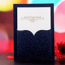 20pcs/lot Blank & Customized Invitation Cards Bow Tie130*180mm Business/Party/Birthday Wedding Party Invitation Card