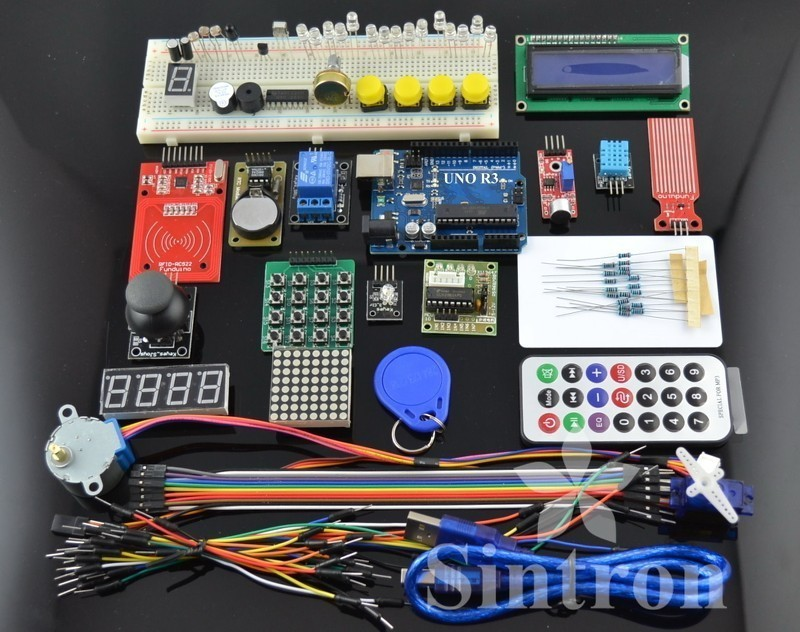 [Sintron] RFID Master Kit with Motor Relay LCD Servo for Arduino AVR Starter<br>
